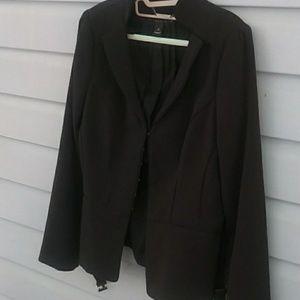 White black blazer size 12